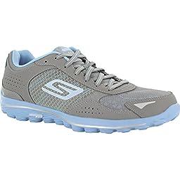 Skechers Performance Women\'s Go Golf 2 Lynx Golf Shoe, Gray/Blue, 9.5 M US