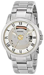 Fossil Men's FS4871 Grant Analog Display Analog Quartz Silver Watch