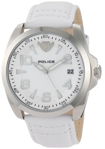 Police Men's Sovereign Watch 12157JS/01 with White Strap
