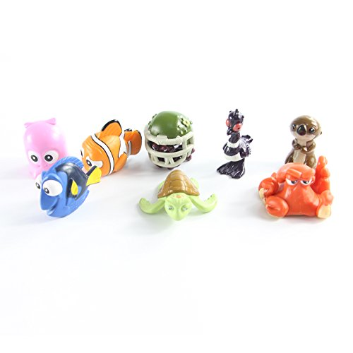 8pcs/set 2016 Movie Finding Dory Fish Clownfish Nemo Action Figure Model Toys