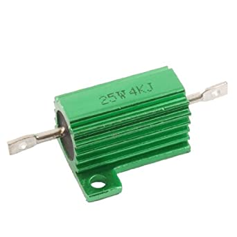 Chasis Mounted 25W 4K Ohm 5% Aluminum Case Wirewound Resistor: Single