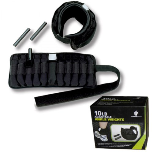 Buy New Ultimately Fit 10lb Total Adjustable Ankle Weight Pair One Size Fits Most