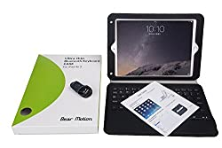 Bear Motion for iPad Air 2 (iPad 6) - Ultra thin Folio Case with Detachable Bluetooth Keyboard for Apple iPad Air 2 (iPad 6)