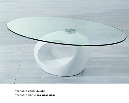 CJM022 Modern White Coffee Table w/ Swivel