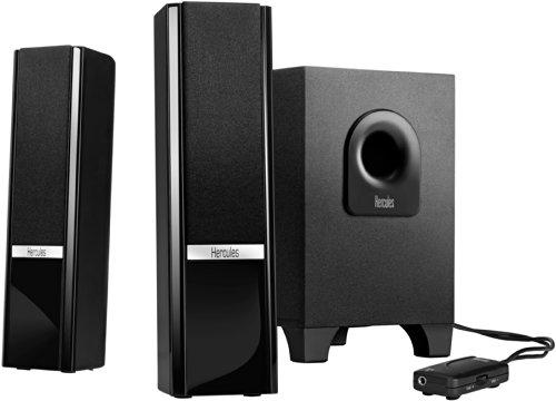 Hercules XPS Gloss Sistema Audio 2.1, Trasparente