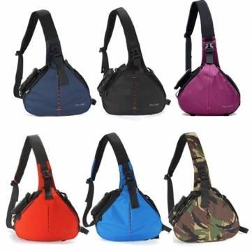 Bheema Fly-Leaf Fashion Shoulder Messenger Camera Case Bag Large Size - Blue