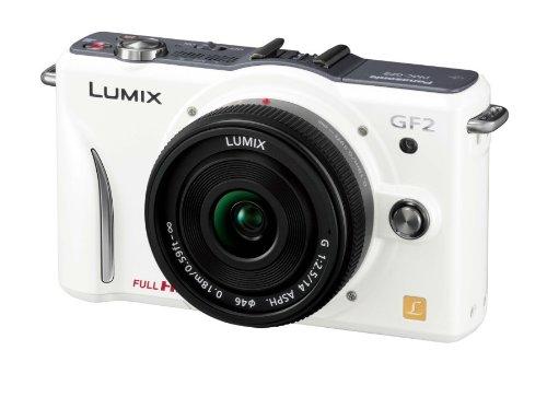 Panasonic デジタル一眼カメラ GF2 レンズキット(14mm/F2.5パンケーキレンズ付属) フルハイビジョンムービー一眼 シェルホワイト DMC-GF2 C-W
