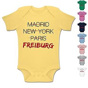 BZ10 Baby Bodysuit Strampler Body Säuglinge kurzarm Envelope Ausschnitt Unifarben - Städte & Länder Baby - Weltstadt Freiburg