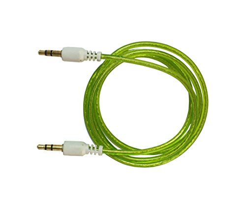 Storite 3.5mm Male To Male Stereo Audio Cable - Step Down Design for iPhone, iPod, Smartphone, Android Phone,Tablet, Desktop Computer, Laptop, Portable Speakers and MP3 Cases -3 Foot - 1M - 100cm (Light Green)