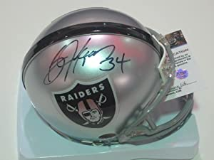 Bo Jackson Oakland Raiders Signed Autographed Mini Helmet with Certificate of...