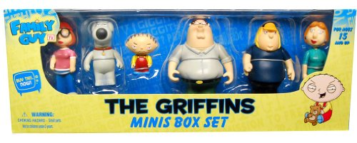 Picture of Mezco Family Guy Mini Figures Set Case Of 12 (B00309JKQS) (Mezco Action Figures)