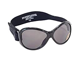 Kidz Banz Retro Banz Oval Kidz Sunglasses, Midnight Black