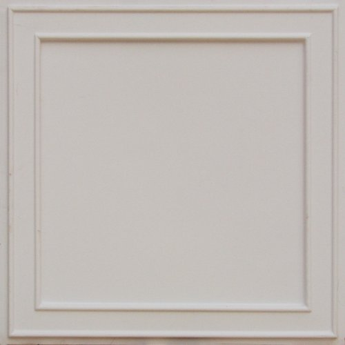 """Discount Cheap White Gloss Plastic Ceiling Tiles Modern Plastic 24""""x 24"""" #207 with Overlaping Edges, Can Be Glue on Existing Grid Tile, Ul Rated!final Sale!!no Refand!"""