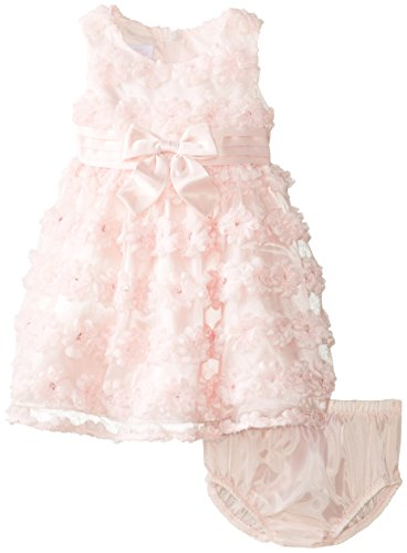 Bonnie Baby Baby-Girls Infant Pink Mesh Bonaz Dress, Pink, 18 Months front-950050
