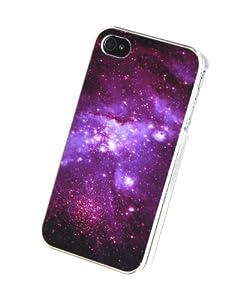 > Coque pour iPhone 4 / 4S - Espace Galaxie Univers Nebuleuse I LOVE Mustache Infini: Amazon.fr