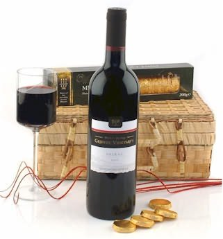 Shiraz Wine & Chocolates Gift Basket