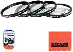 67mm Close-Up Filter Set (+1, +2, +4 and +10 Diopters) Magnification Kit For Canon Digital EOS Rebel SL1, T1i, T2i, T3, T3i, T4i, T5, T5i EOS60D, EOS70D, 50D, 40D, 30D, EOS 5D, EOS5D Mark III, EOS6D, EOS7D, EOS7D Mark II, EOS-M Digital SLR Cameras Which Has Any Of These Canon Lenses 17-85mm, 18-135mm, 70-200mm f/4L, 70-300mm f/4-5.6L, 100mm f/2.8L, 35mm f/2, 10-18mm