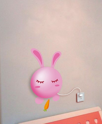 Dream Wall Decal, Pink Bunny