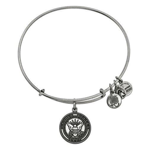Alex and Ani U.S. Navy Charm Bangle Bar Bracelet