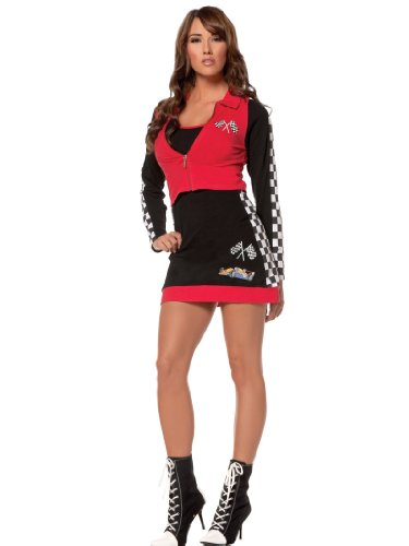 Plus Size Red Racer Sexy Racing Costume Dress Womens Theatrical Costume