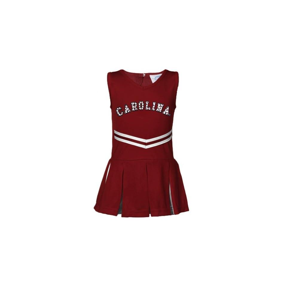 NCAA South Carolina Gamecocks Infant Girls Garnet Cheerleader Dress (6 Months)