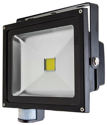 Ledjump® Weatherproof 30W Montion Sensor Led Floodlight Security Lamp Lights Cool White Ac85-265V 150 Beam Angle Illumination