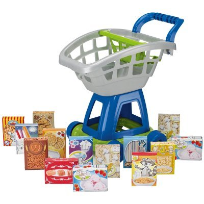 41ssEzV3sjL American Plastic Toy 15 Piece Deluxe Shopping Cart with Play Food