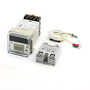 Solid State Relay + 1000K Thermocouple + Temperature Control Meter Set