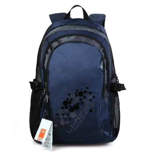 Chinese Best Famous Sports Brand Li-Ning Laptops Backpack Computer Notebook Tablet,Knapsack,Rucksack Swiss Gear Army Knife Bag Comfortable Back Panel Ergonomic Shoulder Straps For Man Woman Travelling,Camping,Hiking, School Waterproof (Jb001 Blue)