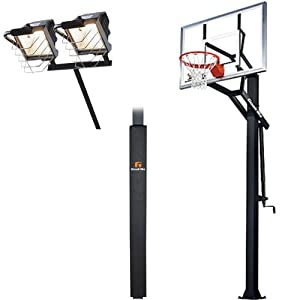 Goalrilla GLR GSIII 54 Basketball System with Pole Pad and Deluxe Hoop Light by Goalrilla
