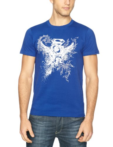 DC Comics Superman Bling Foil Print Men's T-Shirt Blue DC013RBS Small
