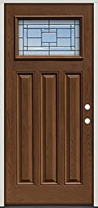 Fiberglass Front Door Craftsman 28 Patina Pre Finished