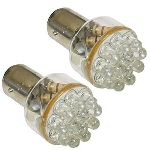 Aerzetix: Lot de 2 Ampoules 24V P21/5W à 12LED - C1706