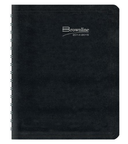 Rediform Brownline Weekly Planner for 2015, Twin-Wire, Black, 11 x 8.5 Inches (CB950.BLK)