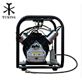4500 Psi Pcp compressor High Pressure Double Cylinder Air pump for Air Rifles Paintball Tank 110V 60HZ TUXING