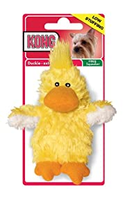 KONG Duckie Dog Toy, Extra Small, Yellow