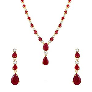 Oviya Combo of Opulent gold and rhodium plated two necklace sets for Women CO1104394G