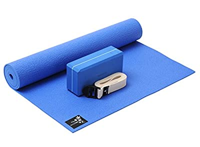 YOGISTAR Yoga-Set kick it (Yogamatte + Yogablock + Yogagurt)