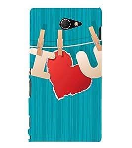 I Love U Design 3D Hard Polycarbonate Designer Back Case Cover for Sony Xperia M2 Dual D2302 :: Sony Xperia M2