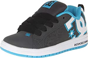 DC Court Graffik SE Skate Shoe (Little Kid/Big Kid),Lagoon/Black,12 M US Little Kid