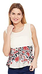 Meee Women's Wrap Top (MEEE-004966_White_X-Large)