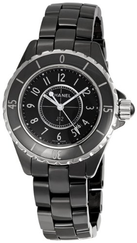 Chanel  Watches special price: CHANEL Women's J12 Ceramic & Stainless Steel Watch, Black