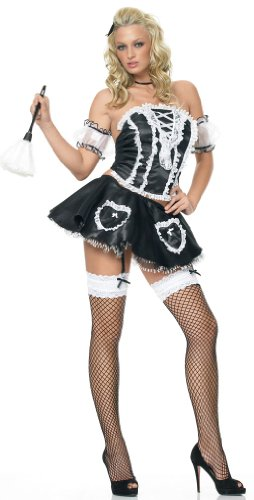 Sexy 5Pc French Maid Fifi French Maid Halloween Costume