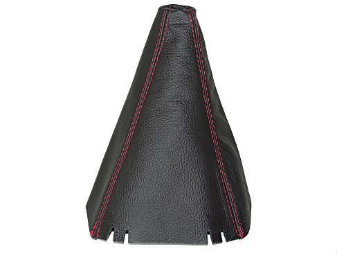 The Tuning-Shop Ltd For Seat Leon Mk2 Fr 2005-12 Gear Gaiter Black Leather Red Stitching (Seat Leon Parts compare prices)