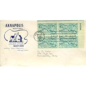 United States First Day Cover 300th Anniversary of Annapolis, Maryland Issued May 1949 Scott # 984