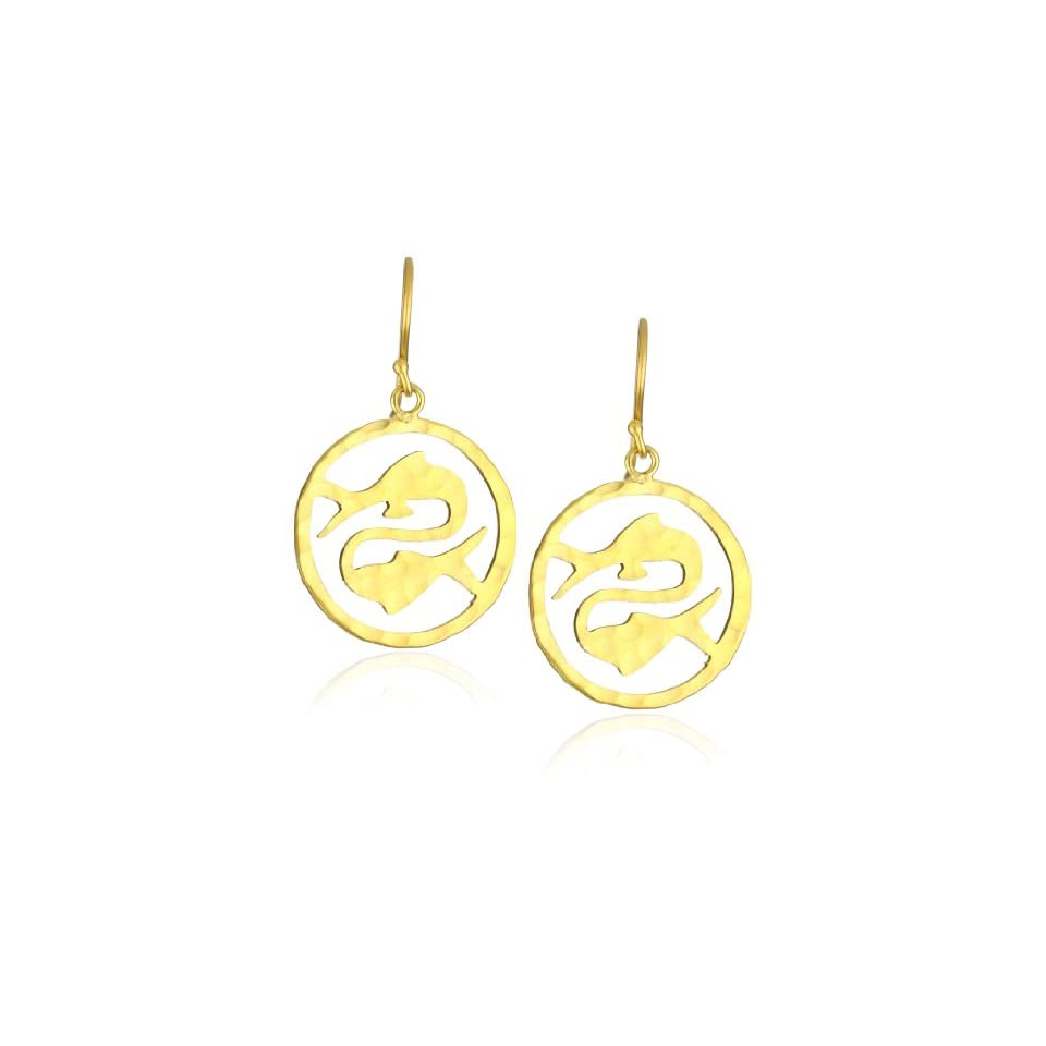 Wendy Mink Zodiacs Pisces Cutout Earrings