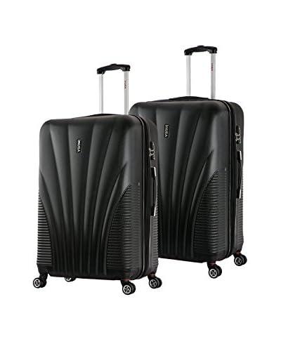 InUSA Chicago 25″ & 29″ Hardside Luggage Set, Black