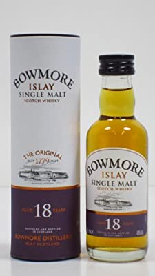 Bowmore 18 year old Single Malt Scotch Whisky 5cl Miniature by Bowmore
