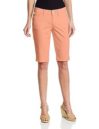 Jag Jeans Women's Lulu Fine Line Slim Twill Bermuda Short, Cantaloupe, 2