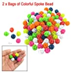 2 Bags Colorful Plastic Clip Spoke Bi...